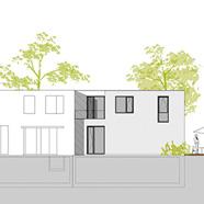 Neubau-Doppelhaushälfte auf großem Grundstück