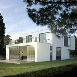 Freistehendes Einfamilienhaus mit Pool und Dachterrasse