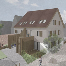 2-Zimmer-Wohnung, Harmonischer Neubau in der Langener Altstadt