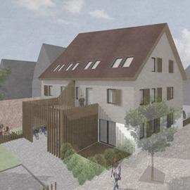 2-Zimmer-Wohnung, barrierefrei, Harmonischer Neubau in der Langener Altstadt
